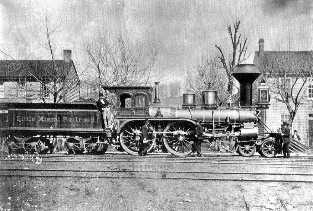 wood burning locomotive 1865 morrow
